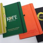 Notebooks, with a range of foiling and embossing